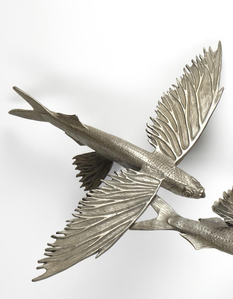 Flying fish sculpture ii kirk mcguire bronze sculpture for Wings fish