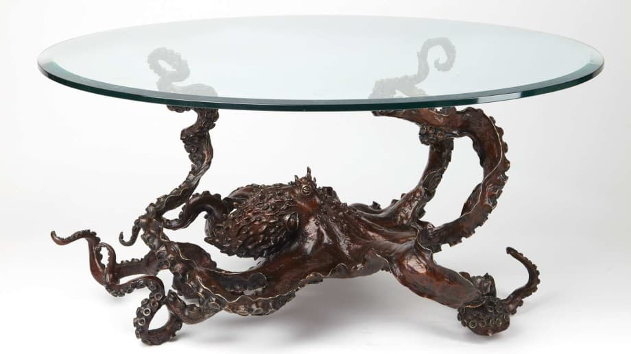 Amazing Kirk McGuire Bronze Sculpture   Sculptures   Tables